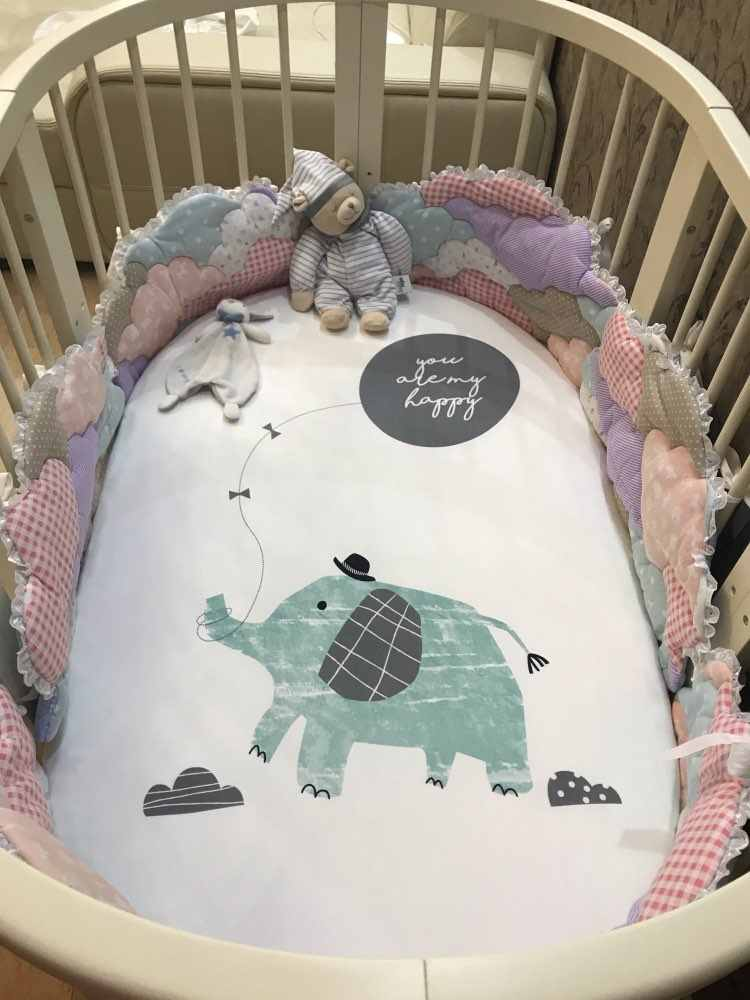 Baby beddengoed hoeslaken leuke cartoon Matrashoes Pure Katoen Wieg Laken