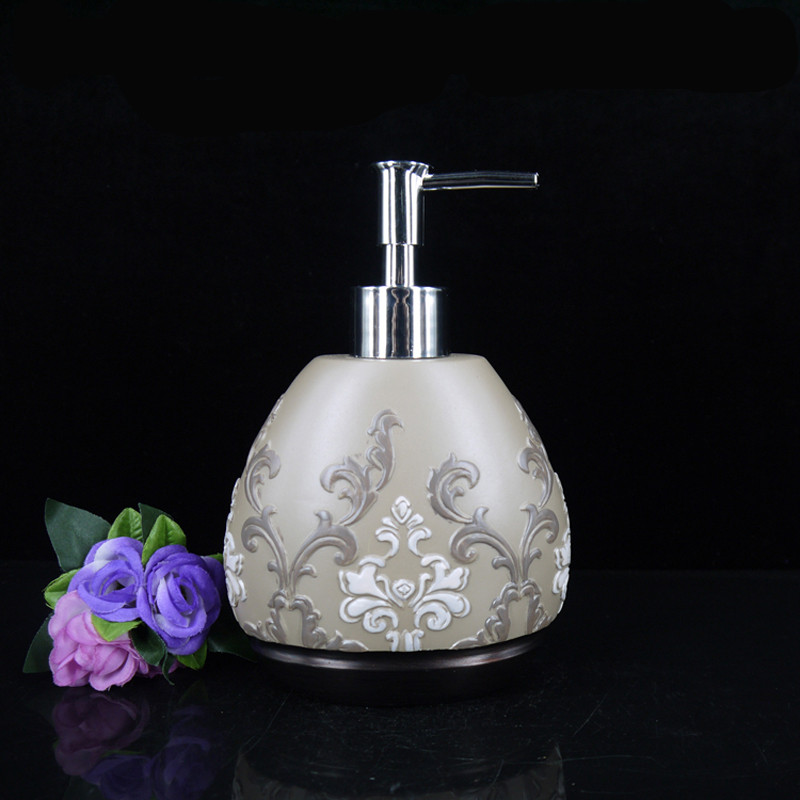 Quality Resin Shower Gel Resin Emulsion Bottle Classical Fashion Bathroom Soap Dispenser Decorations China