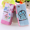 Elf Sprite Matte Case for iphone 4 4S 4G Wallet Stand Flip Leather Bird Crown Phone Accessories Owl Cute Cover for Apple iphone4