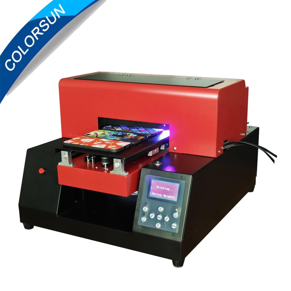 Vente chaude 6 couleur automatique A4 taille UV imprimante coque de téléphone imprimantes UV LED à plat automatique Machine d'impression pour le cuir,