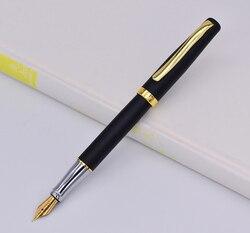 Duke nierdzewna pióro wieczne 209 zaawansowane 22KGP Medium stalówka 0.7mm  czarny matowy z złoty klip pisanie prezent długopis dla biura/domu w Pióra wieczne od Artykuły biurowe i szkolne na