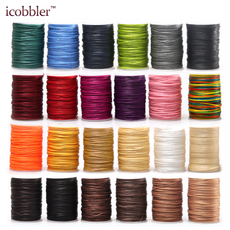 210D Leather Sewing Waxed Thread Cord Leather Craft,1.2mm Diameter String Cotton Line Thread Leather Stitching Tool DIY Material