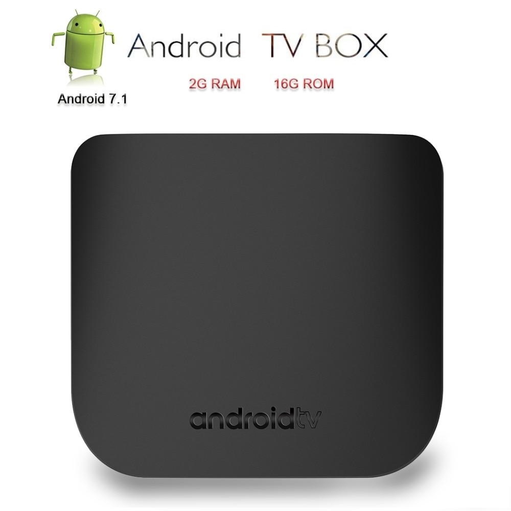 Mecool Android TV Box 4K Smart TV Box M8S Plus W Set Top Box IPTV Stalker MAG25X Media Player 2G RAM 16G ROM 2.4G WiFi TVBox