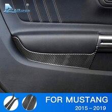 Velocità per Ford Mustang Accessori 2015 2016 2017 2018 2019 In Fibra di Carbonio del Portello di Automobile Pannello di Copertura Sticker Interni Trim Decal