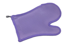 Silicone violet gel and cotton insulation gloves Long Baking oven glove