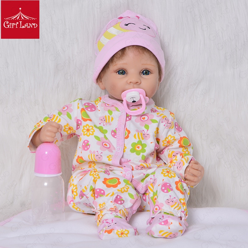 Bebe Reborn Dolls 22inch Soft Vinyl Silicone Reborn Baby Doll Cute Girl Toys Boneca For Children Birthday Gift Princess LatestBebe Reborn Dolls 22inch Soft Vinyl Silicone Reborn Baby Doll Cute Girl Toys Boneca For Children Birthday Gift Princess Latest
