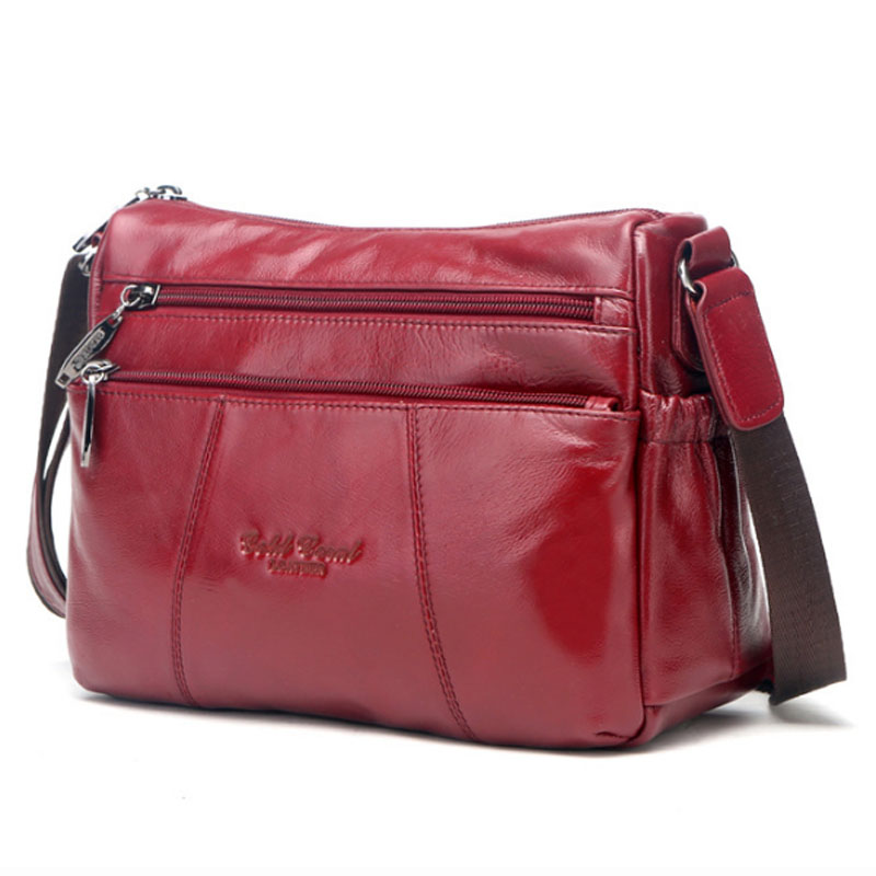 100% Genuine Leather Women Messenger Sling Shoulder Bag Fashion Casual Ladies Satchel Famous Brand Female Hobo Cross Body Bags first layer cowhide luxury women messenger bag designer lady satchel purse fashion genuine leather cross body shoulder hobo bags