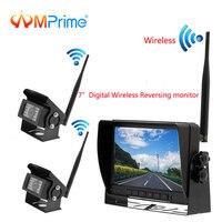 AMPrime 7 автомобильный монитор цифровой беспроводной двойной резервный задние камеры с ИК камерой ночного видения заднего вида для трейлера