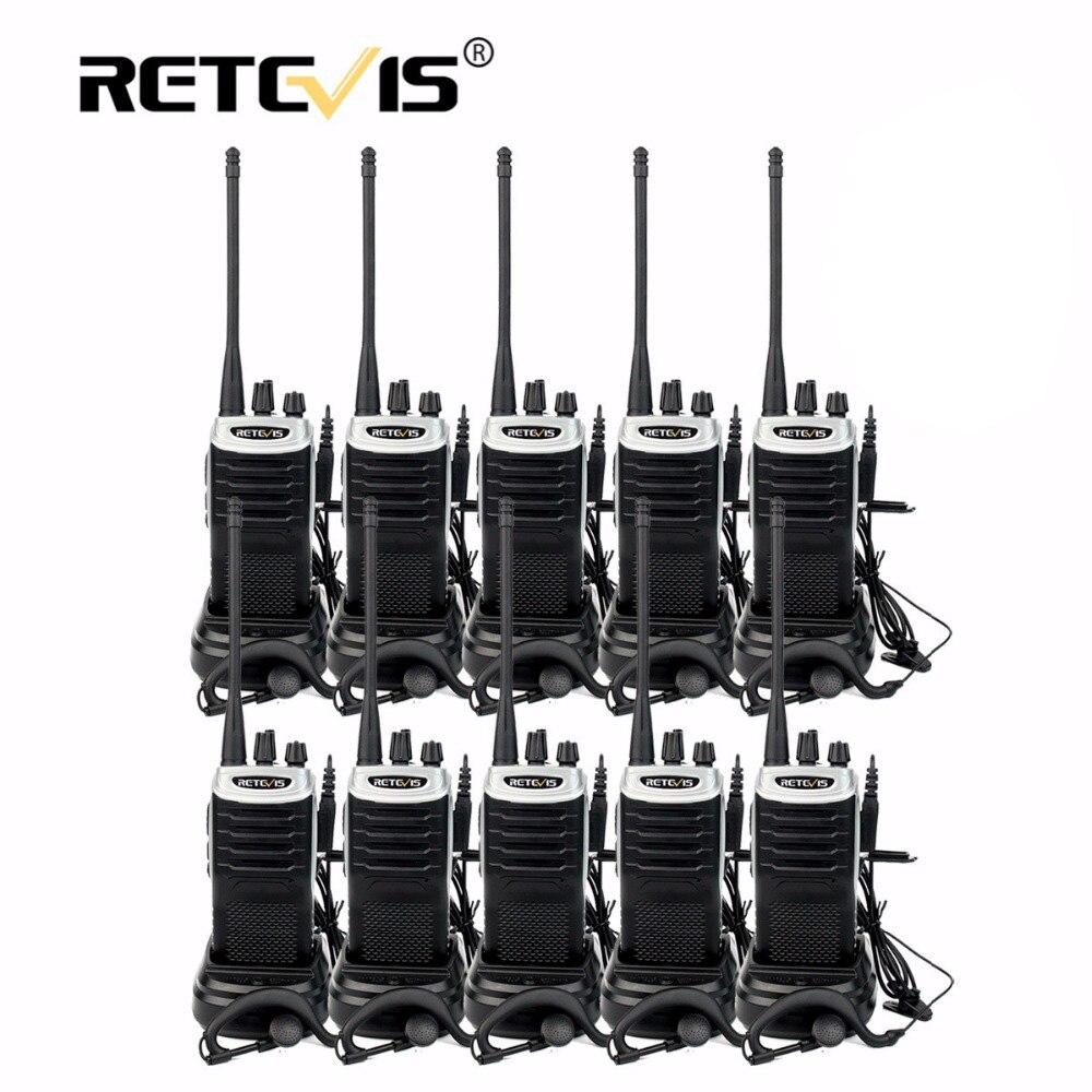 10 st Retevis RT7 Hotell / restaurang Handy Walkie Talkie Set 5W 16CH UHF FM-radio (88-105MHz) cb Radio Comunicador Hf Transceiver