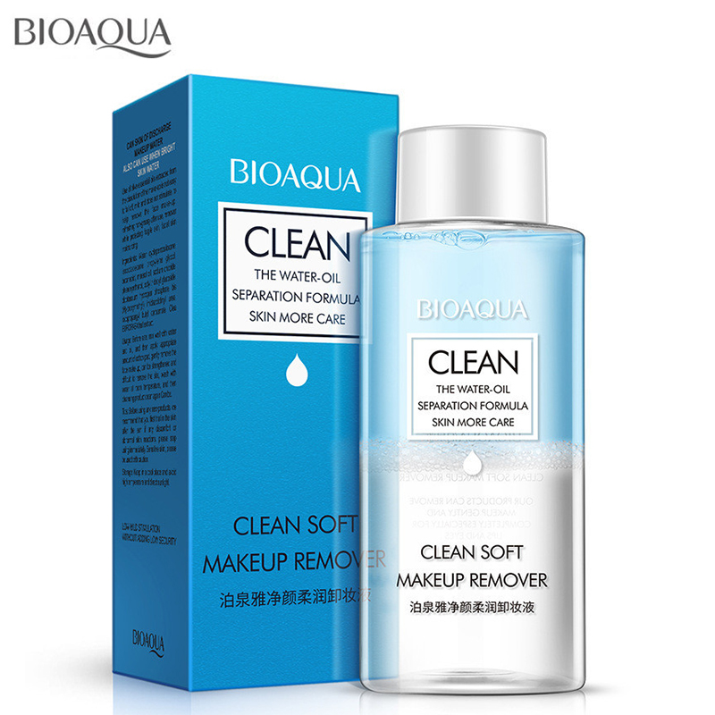 BIOAQUA Clean soft makeup remover Moisturizing Makeup Remover Face Care Deep Clean Cleansing Water Face Mild Clean 150ML