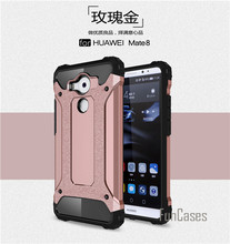Slim Armatura Anti-Shock Caso per Huawei Mate 8 Custodia In Silicone Rugged gomma Ibrida Dura Del PC per Huawei Mate 8 Copertina 6 pollici(China)
