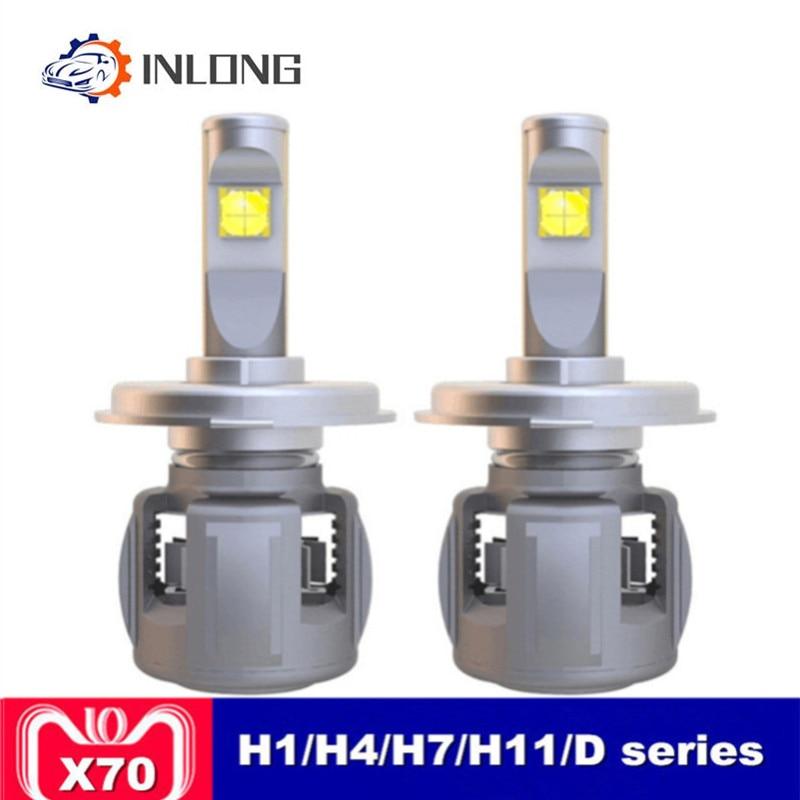 INLONG X70 H7 H1 9005 9006 H4 Car LED Headlight Bulb H11 H9 H8 D1S D2S