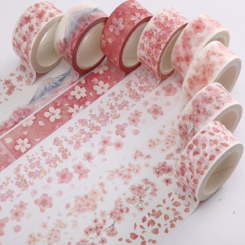 NOVERTY Flower Kawaii Washi Tape Cute Masking Tape Creative Diary DIY Decoration Paper Scrapbooking Stickers Stationery 02518
