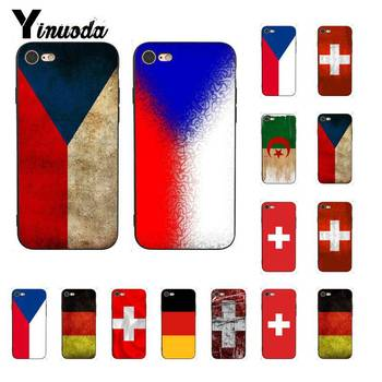 Yinuoda Czech Republic switzerland germany flag Cute Phone Case for iPhone8 7 6 6S Plus X XS MAX 5 5S SE XR 10 11 11pro 11promax image