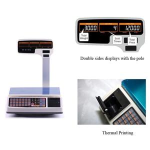 Image 3 - ราคาใบเสร็จรับเงินการพิมพ์ขนาด 30kg เครื่องชั่งน้ำหนักสนับสนุนเครื่องพิมพ์ความร้อนหลายภาษาการพิมพ์เบเกอรี่หรือร้านอาหาร