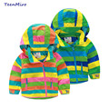 Children Fleece Jackets For Boys Girls Coat Striped Baby Clothes Spring Hoodies Windbreaker Kids Outerwear Clothing Parka 2-10Y