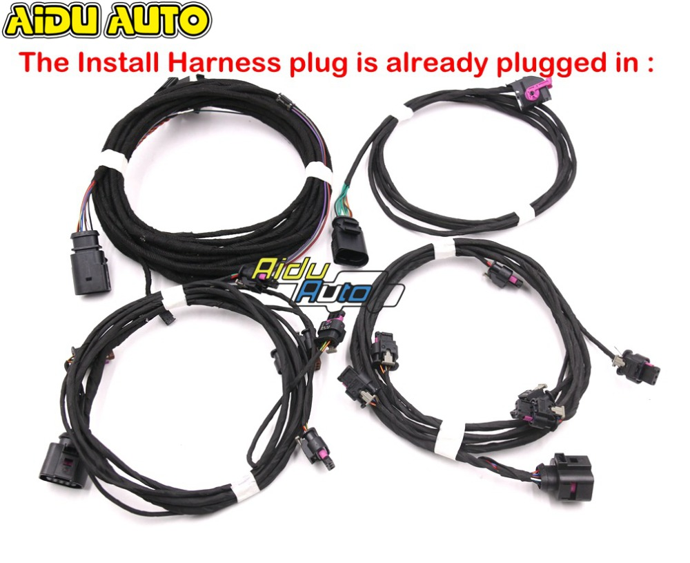USE FOR VW Golf 7 MK7 VII Parking Front Rear 8K PDC OPS Install Harness cable