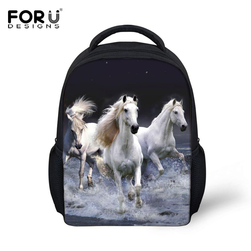 Small 3D Zoo Animals School Bags for Kindergarten Baby,Crazy Horse Backpack Preschool Kids Book Bag Boys Mochila Girls Schoolbag