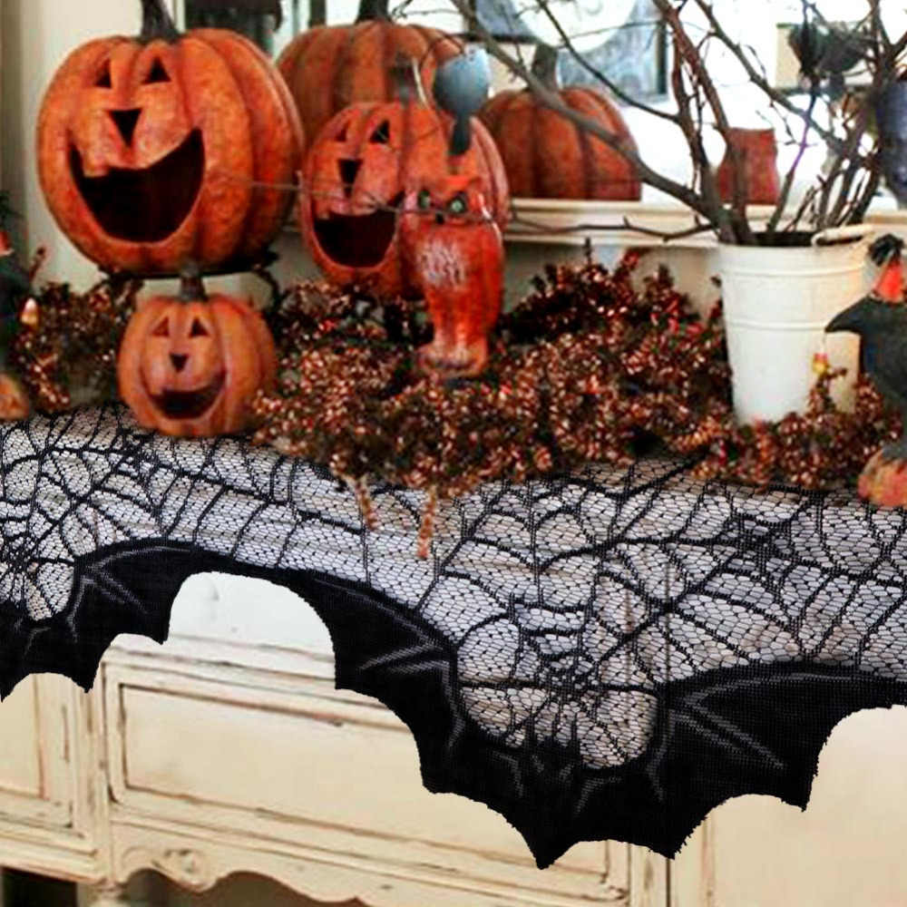 Ourwarm Halloween Decoration Props Black Lace Spiderweb Fireplace Halloween Hanging Ghost Scary Party Haunted House Decorating