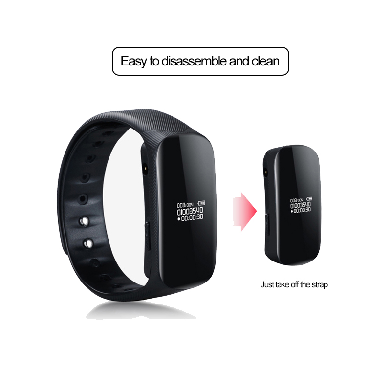 Yescool Amoi B70 Digital Voice Recorder Stimme Aktivieren Smart Armband Hd Musik Player Stealth Audio Diktiergerät Armband Uhr ZuverläSsige Leistung Digital Voice Recorder Unterhaltungselektronik