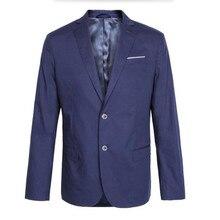 Classic business men's suit jacket two grain of buckle lapel formal party leisure dark blue dress high quality men's suit jacket