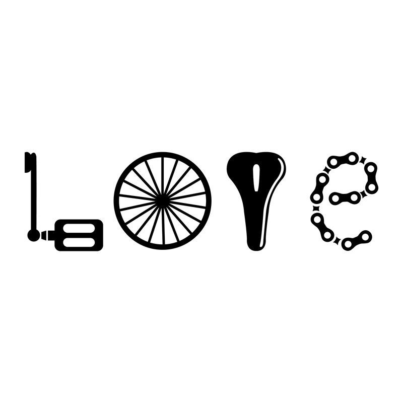 Любовь Вызов всех любителей велосипеда художественные наклейки декор креативные забавные виниловые наклейки для велосипеда бампер роспис...