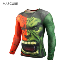 Mascube 2017 3d mens camiseta de baloncesto superior marvel heroes hulk avenger brand clothing cachorros jersery culturismo running térmica