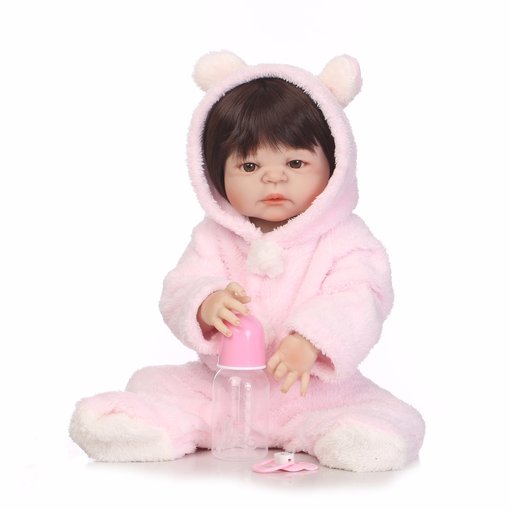 New Hot 2255cm Full Body Silicone Reborn Baby Doll Toys Newborn Princess Toddler Babies Dolls Birthday Present Girls Bathe Toy full silicone body reborn baby doll toys lifelike 55cm newborn boy babies dolls for kids fashion birthday present bathe toy