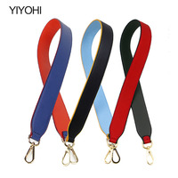 YIYOHI Plain Design Women Split Leather Handbag Strap Gold Clasp Super Chic Lady Shoulder Stripe Easy