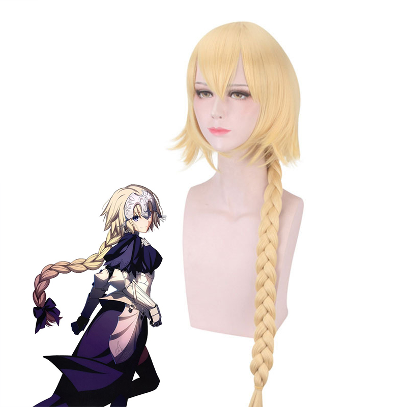 Fate Apocrypha Jeanne cosplay wig Halloween Party Accessory Blonde Hair Anime Fate/Zero Cosplay Long braided Hair Wigs women