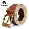 baieku Canvas belt male pin buckle leisure contracted belt male han edition joker belts male young men belt