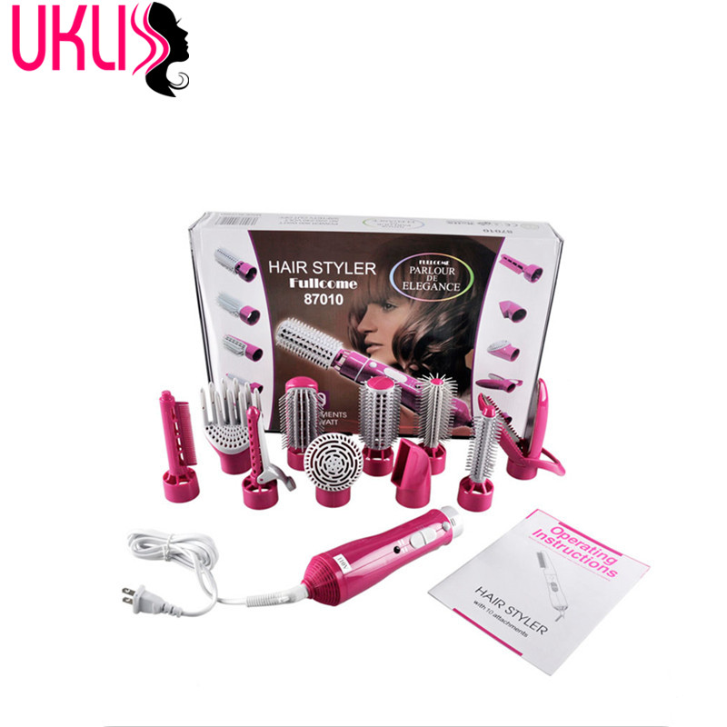 10 in 1 Professional electric Blow Hair Dryer With a Brush Powerful Hairdryer Blow Comb Electric Hot Air Rotating Hair Styler chj infrared hair dryer healthy electric hair dryer brush ionic hair blower multi color hair styler dryer comb