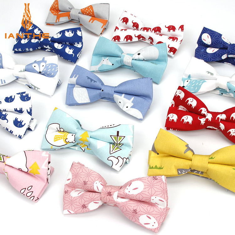 Men's Brand New Formal 100% Cotton Vintage Animal Fox Bow Tie Hanky Butterfly Bowtie Tuxedo Elephant BowtiesParty Pocket Squares