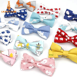 Butterfly Bowtie Pocket Squares Elephant Vintage Formal 100%Cotton Animal Men's Brand-New