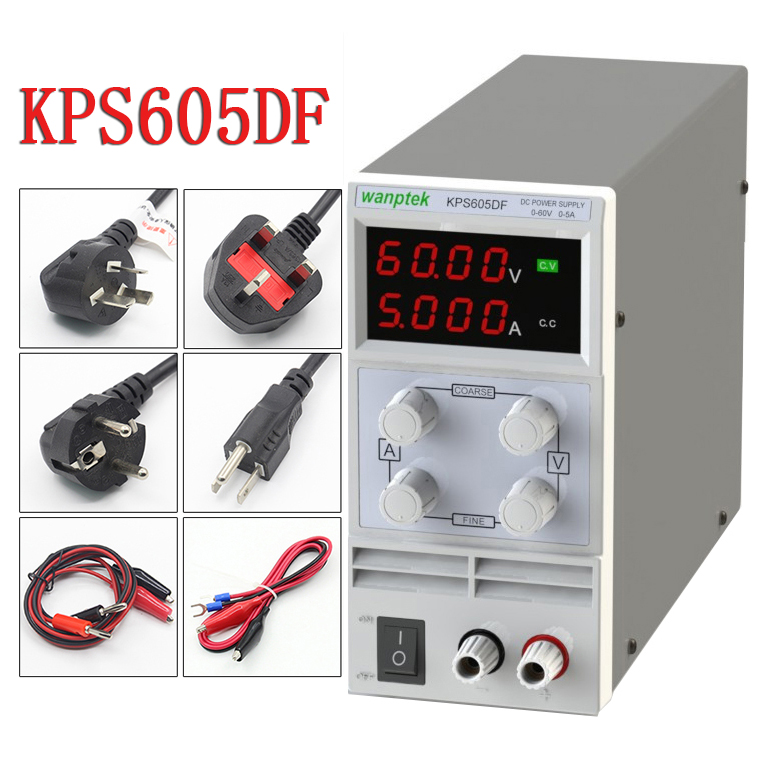 KPS605DF 60V 5A 4 Digits LED DC power supply 0.1V 0.001A Digital Display adjustable Mini DC Power Supply rps6005c 2 dc power supply 4 digital display high precision dc voltage supply 60v 5a linear power supply maintenance