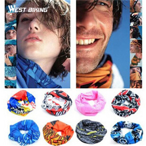 WEST BIKING Sports Skull Wicking Seamless Cycling Bike Bicycle Riding Veil Multi Head Scarf Face Masks Bandana Skull Scarves