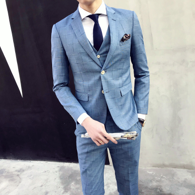Formal Wedding Dress Prom Suits Mens Suits With Pants 3 Pieces Slim ...