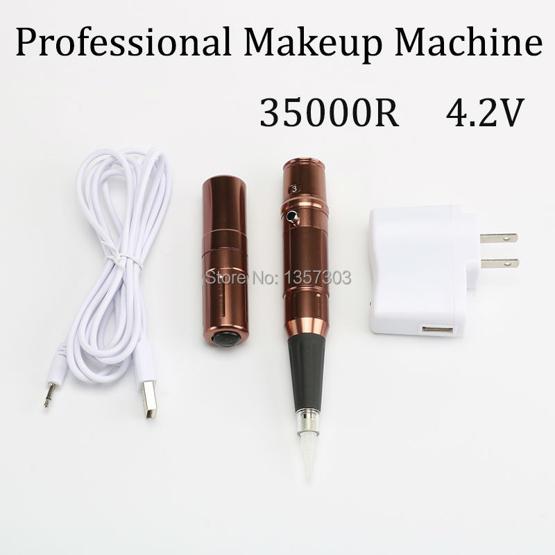 35000R Import Motor Rotary Tattoo machine Permanent Makeup Machine Pen-JS-007 electric makeup eyebrow lips pen permanent makeup machine rotary tattoo machine gun with swiss import motor