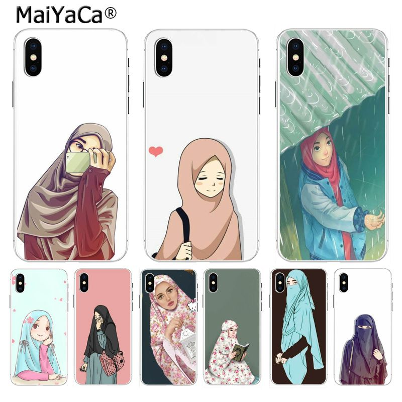 MaiYaCa Oriental Woman In Hijab Face  Fashion phone case cover for iPhone 8 7 6 6S Plus X XS max 10 5 5S SE XR Coque Shell