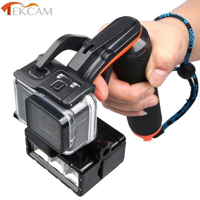 Tekcam Stabilisator Abschnitt Pistole Trigger Set Schwimm Griff Handheld Monopod Für Gopro hero 5/6/7 Gopro Hero 5 Hero 6 Zubehör