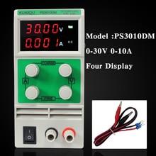 Mini Ajustable de Alimentación de CC, fuente de Alimentación de laboratorio, PS3010DM 30V10A Cuatro pantalla Digital regulador De Voltaje Variable