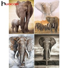 Huacan Elephant Diamond Painting Full Square Embroidery Sale Animal DIY Cross Stitch Rhinestones Mosaic Gift