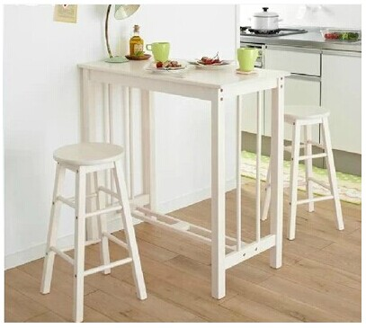 Bon Wood Breakfast Table Breakfast Bar Stool Chair Bar Tables Bar Small  Apartment Small Household Combination Coffee