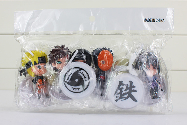 6pcs/lot 7cm Anime Naruto Sasuke Kakashi Sakura Gaara Itachi Obito Madara Model Doll