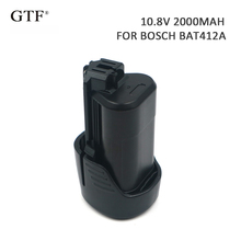 2000mah 10.8V Rechargeable Tool Battery for bosch Replacement Li-ion Bosch 2 607 GSB GSR PS BAT411 412