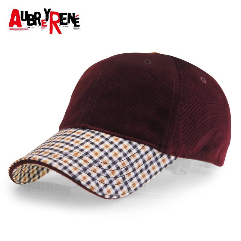 Prix pour [Aubreyrene] 2017 coton casquette de baseball hommes allemand design rétro plaid chapeau snapback caps z-3031