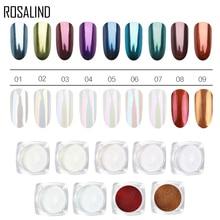 ROSALIND 1 Box Nail Glitter Nail Powder Pigment Dust Manicur