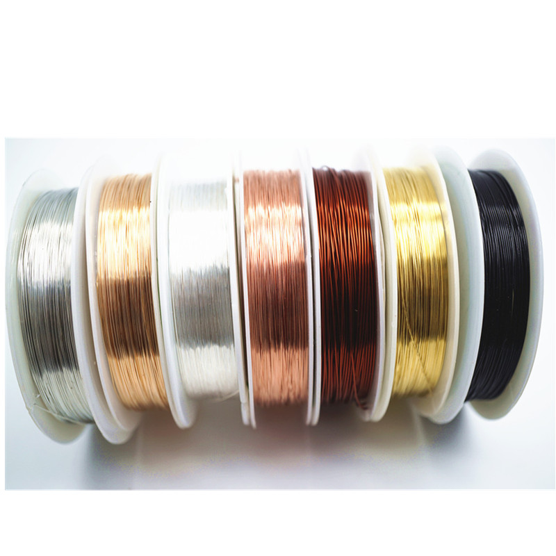 Silver Copper Wire For Bracelet Necklace Jewelry DIY Accessories 0.2/0.25/0.3/0.5/0.6/1.0mm Craft Beading Wire HK018