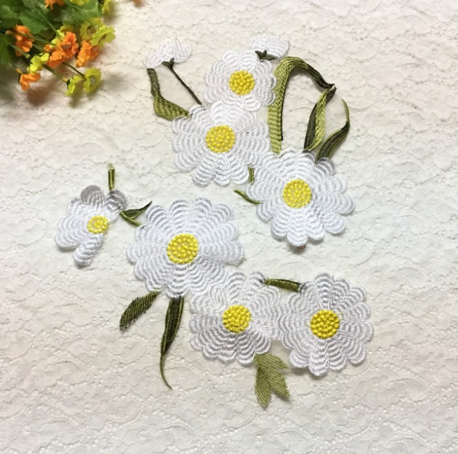 2019 New Fashion DIY Applique Embroidery Applique Costume Decoration Dimensional Flower Hand-sewn Patch