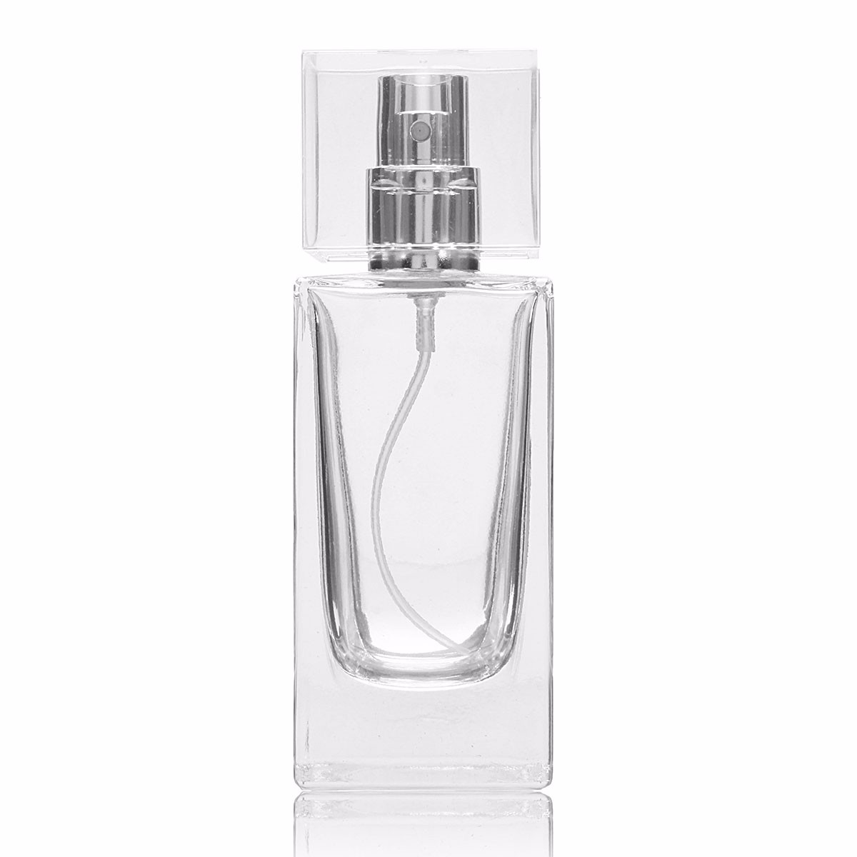 0ml Perfume Glass Bottle Refillable Bottle With Silver Metal Spray Clear Cap Empty Packaging Case With Atomizer For Cosmetic 100pcs new 2ml clear glass roll on bottle with clear cap